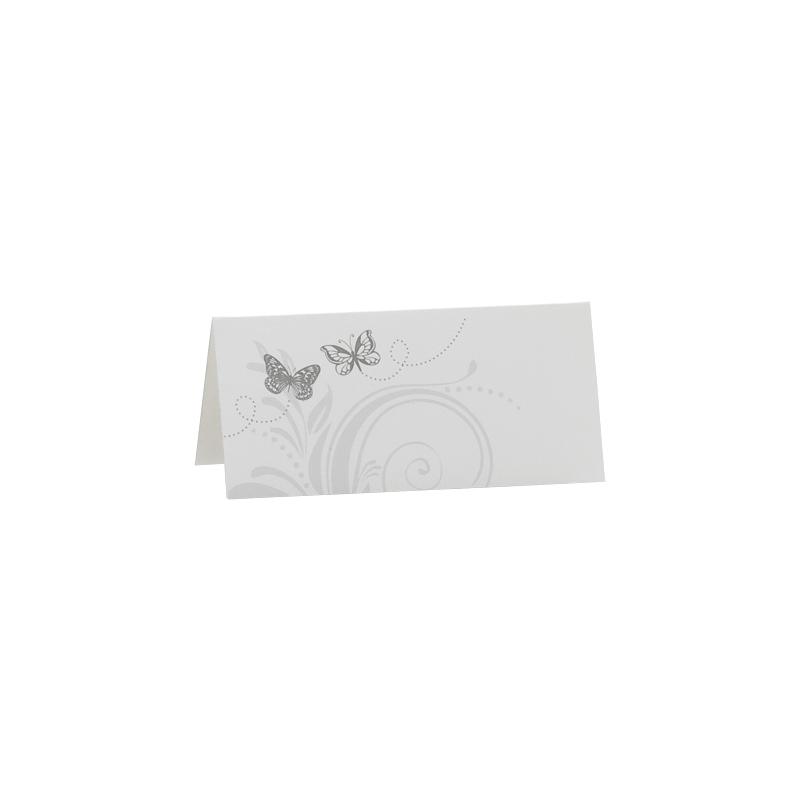 Marque place vierge avec 2 papillons gris buromac - Marque place avec photo ...