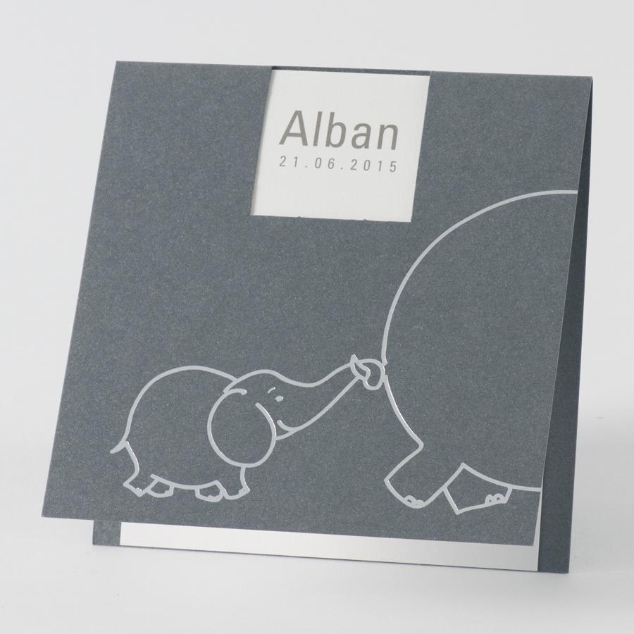 Sehr Faire-part carré éléphant (580.019) | Buromac KR32