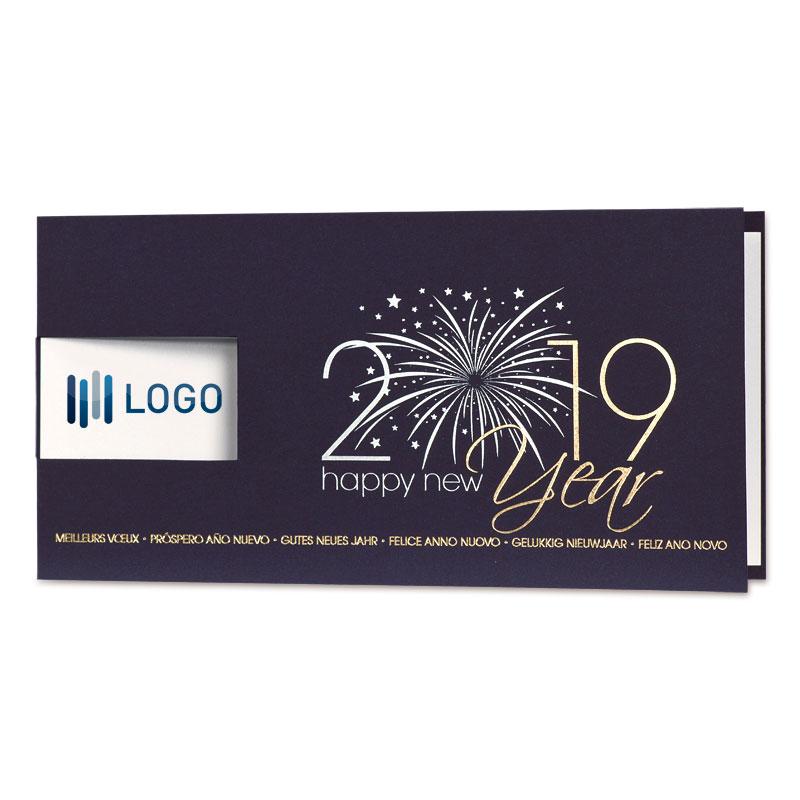 Zakelijke nieuwjaarskaart met een schitterend 2019 (848.011)