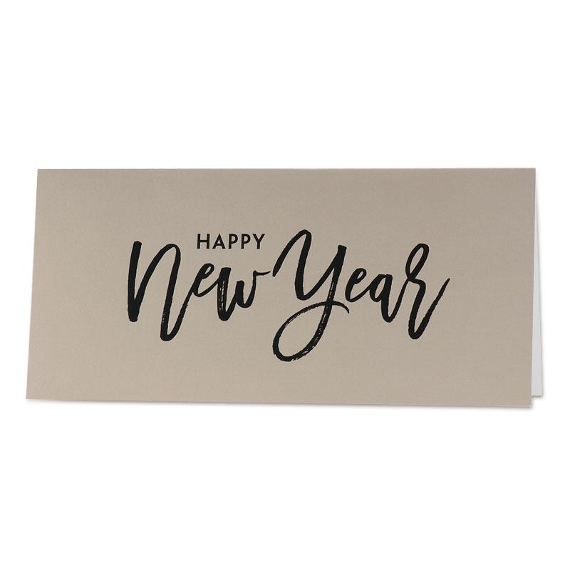 Gouden nieuwjaarskaart Happy New Year (848.038)