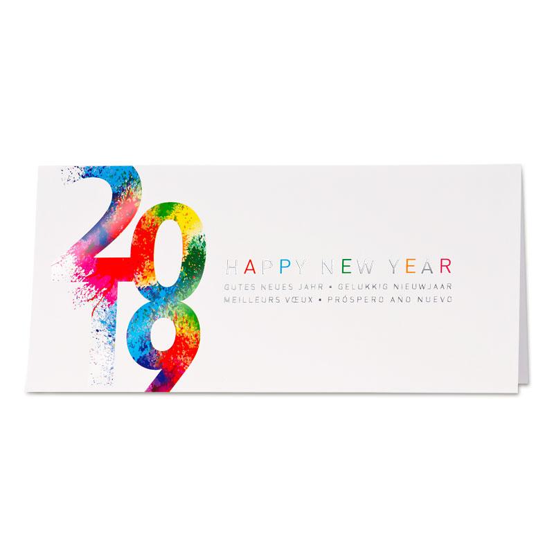 Nieuwjaarskaart 2019 in vrolijke kleuren (848.057)