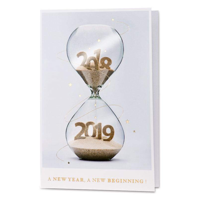 Nieuwjaarskaart zandloper 2019 (848.066)