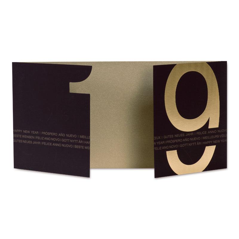 Neujahrskarte mit gestanzter Jahreszahl (848.008) | Büromac