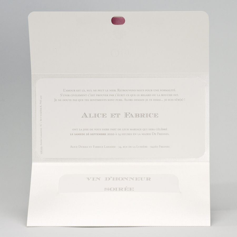 pochette mariage aux rubans rose poudr buromac. Black Bedroom Furniture Sets. Home Design Ideas