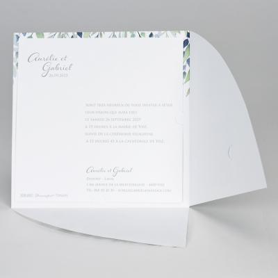 Faire-part vert OUI (108.007)
