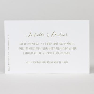 Carte d'invitation blanc (128.097)