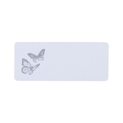 Etiquette adresse avec deux papillons gris  (171.204)