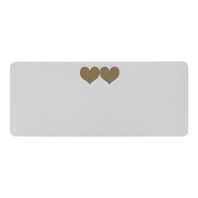 Etiquette adresse cœurs dorés  (173.272)