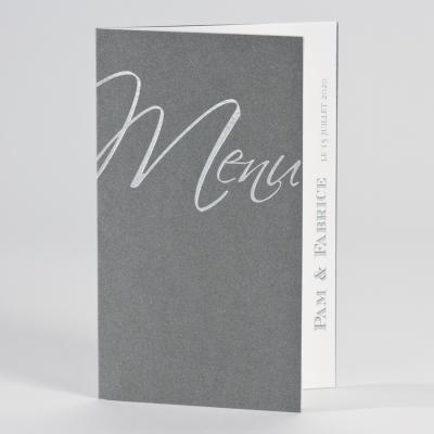 """Menu gris + mot """"menu"""" (200.090)"""