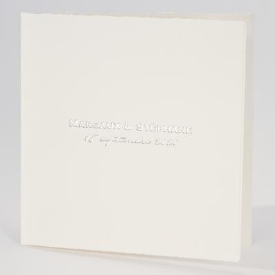 Carte ivoire carrée bords déchirés (303.057)