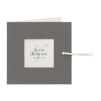 Carte bicolor gris argent et crème (313.093)