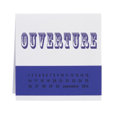 Invitation bicolor carré blanc et violet (313.117)