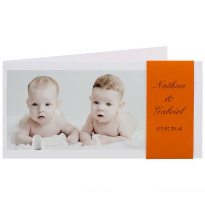 Carte allongée bandeau orange (313.121)