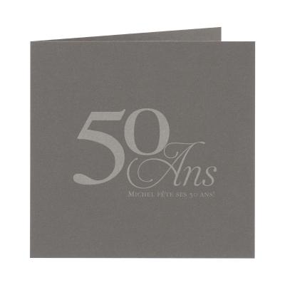 Carte carré gris acier grand format (313.155)