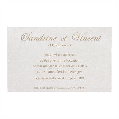 Carte lunch crème nacré (362.051)