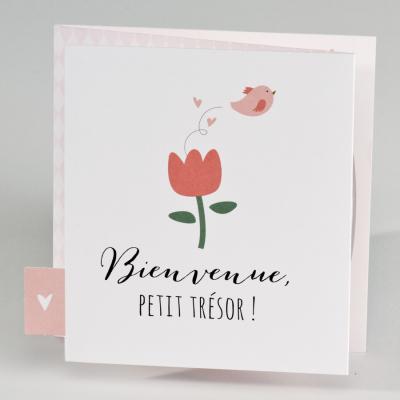 Carte triptyque jardin fleuri (507.002)