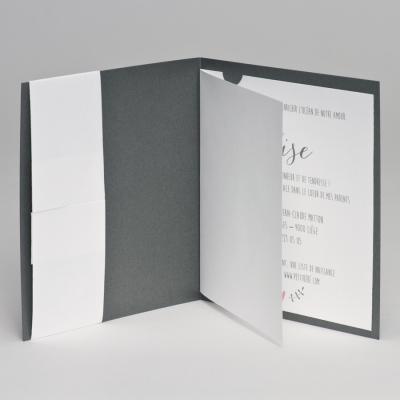 Faire-part gris et girafe (507.054)