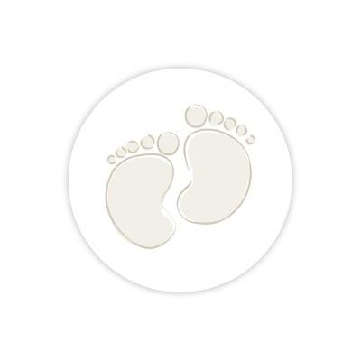 Timbre de scellage pieds bébé beige  (571.118)