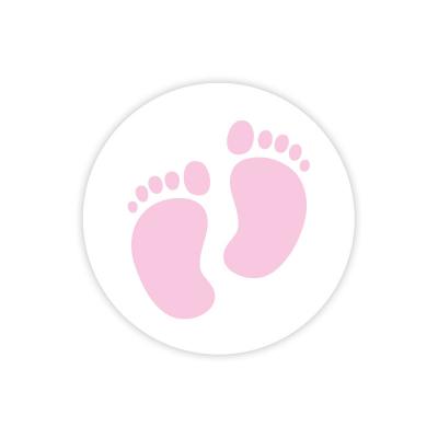 Etiquette avec pieds bébé roses (572.107)