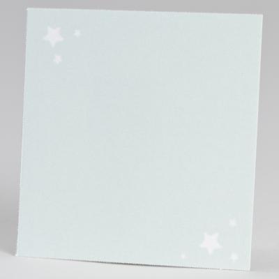 Carte étoilée vert d'eau  (576.306)