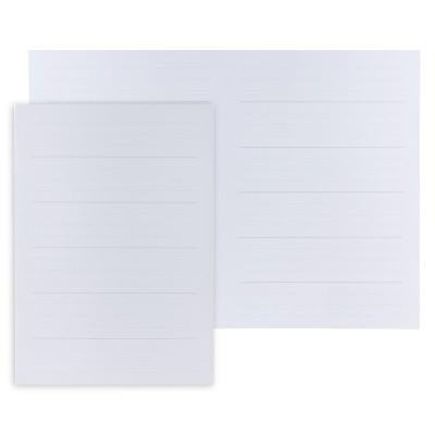 Feuilles lignées blanches   (610.118)