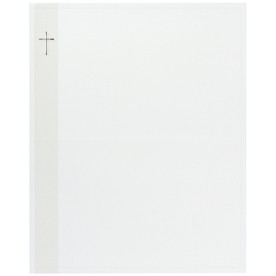 Billet religieux avec croix argentée (620.080)