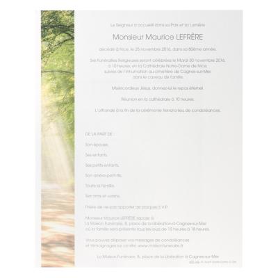 Billet civil balade en forêt (620.142)