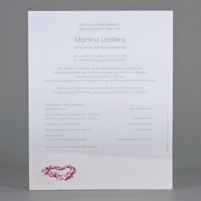 Billet civil cœur en pétales de fleurs (620.160)