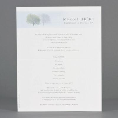 Billet civil 2 arbres (620.162)