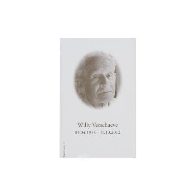 Souvenir mortuaire allongé blanc vernis (650.040)