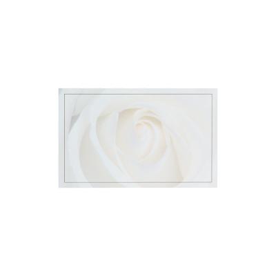 Carte civile cœur de rose blanche  (670.107)