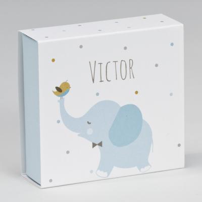 Boîte tiroir éléphant bleu  (727.132)