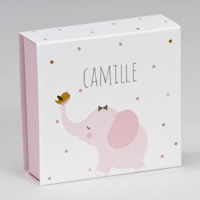 Boîte tiroir éléphant rose (727.133)