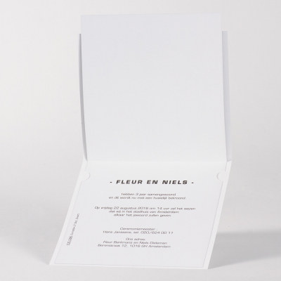 Vierkante kaart black and white (105.096)