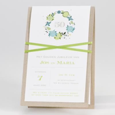 Ecokaart met groene bloemen (106.042)