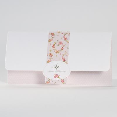 Witte pochettekaart met libertybloemen (106.068)