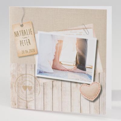 Fototrouwkaart met jute en steigerhout (106.136)