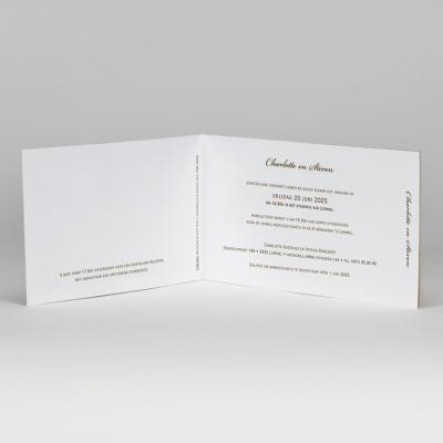 Rechthoekige fotokaart in eco met detail in kant (108.030)
