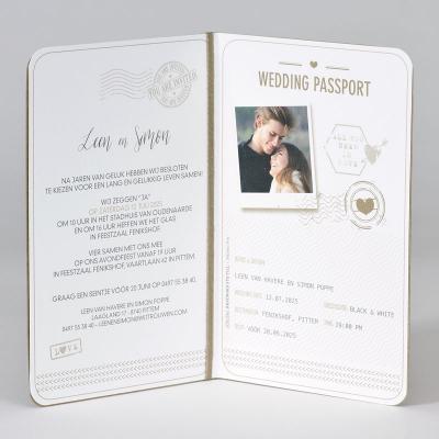 Eco paspoort met hart in koperfolie - ENG (108.044)