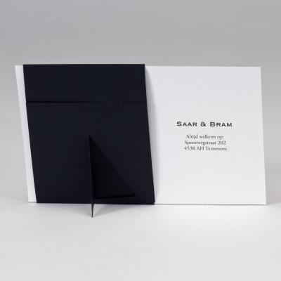 Dankkaart met zwarte passe-partout  (128.903)