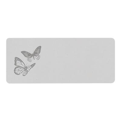 Adresetiket met 2 grijze vlinders  (171.204)