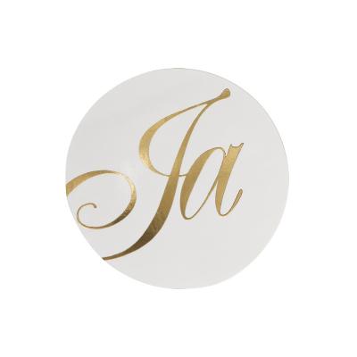 Sluitzegel met Ja in goudfolie (173.007)