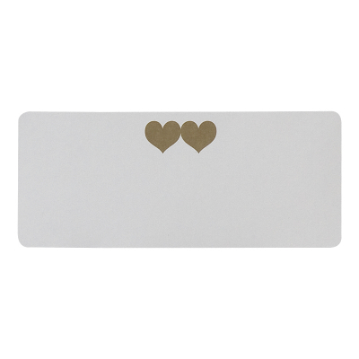 Adresetiket met 2 gouden hartjes (173.272)
