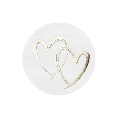 Sluitzegel hartjes in goudfolie (176.101)