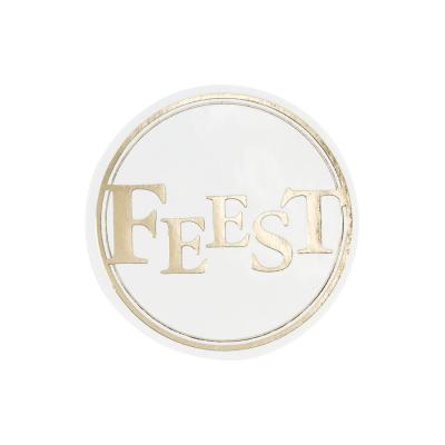 Sluitzegel FEEST in goudfolie (176.106)
