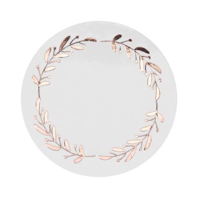 Sluitzegel met krans in rosé goudfolie (178.102)