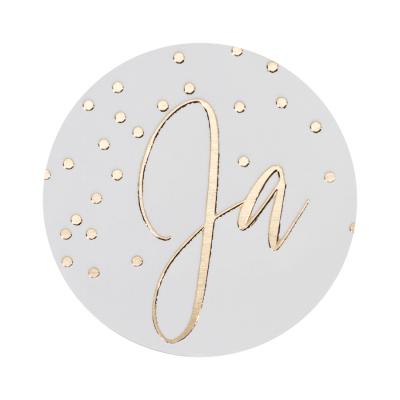 Ja met confetti in goudfolie (178.103)