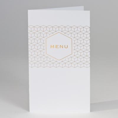 Witte menukaart met geometrisch patroon  (208.065)