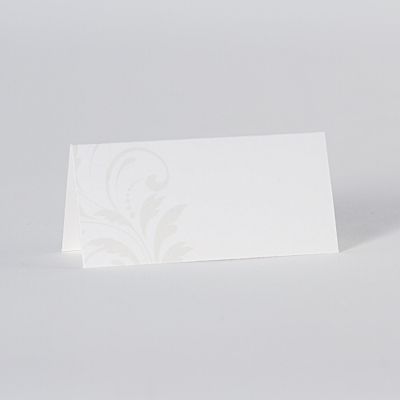 Tafelkaartje met beige barokkrullen (225.068)