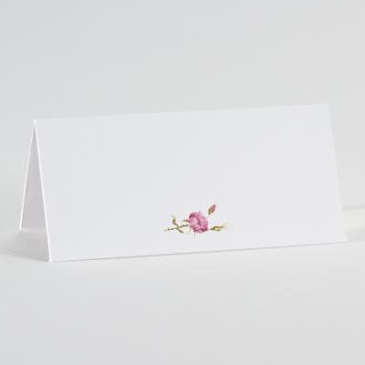Wit tafelkaartje met roze bloem (226.024)